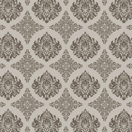 retro wallpaper and vintage seamless pattern for background, pattern in swatches Illusztráció
