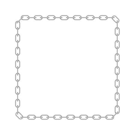 Kettenrahmen, Metallgrenze lokalisiert auf weißem Hintergrund. Vektor-Illustration Vektorgrafik