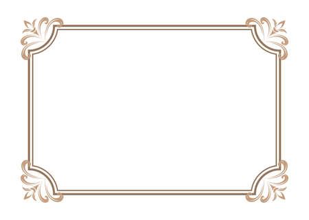 cadre décoratif dans un style vintage avec belle bordure en filigrane et rétro pour invitation premium ou carte de mariage sur fond ancien, carte postale de luxe, vecteur d'ornement