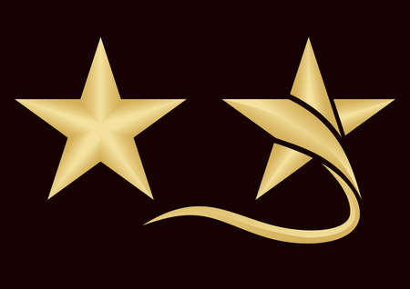 golden star logo template, symbol and Icon, Vector illustration Illustration