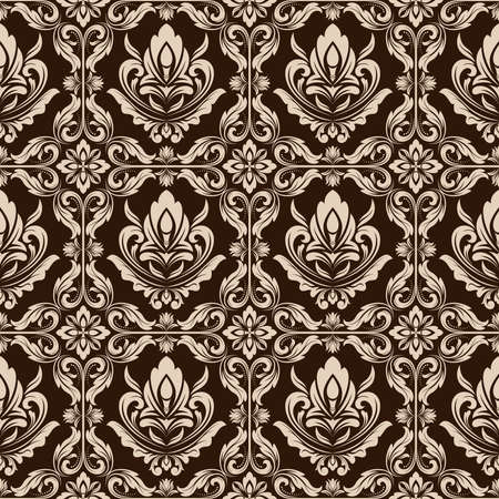 retro wallpaper or ancient background with beautiful filigree , antique stylish texture and vintage graphic design for seamless pattern backdrop, vector illustration