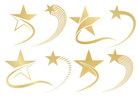golden star template, symbol and Icon, Vector illustration Illustration