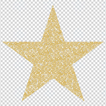 golden star template, symbol and Icon, Vector illustration Stock Illustratie