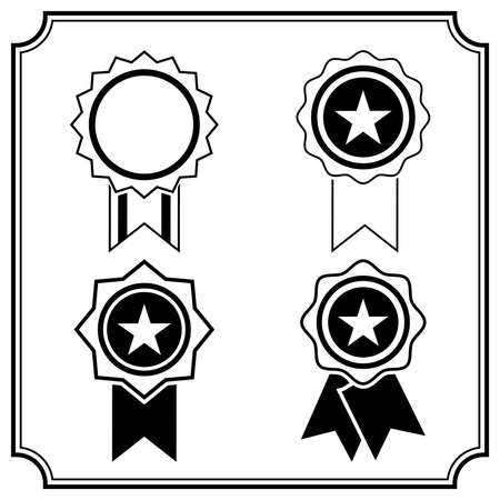 Award Icon in flat style isolated on white background. for decoration on certificate in achievement, approved, award, favourite, medal, trophy