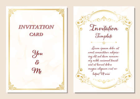 Wedding Invitation, Certificate or diploma vintage style and retro design template vector illustration 向量圖像