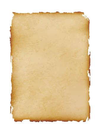 vecchio foglio di carta vintage isolato su sfondo bianco, illustrazione vettoriale