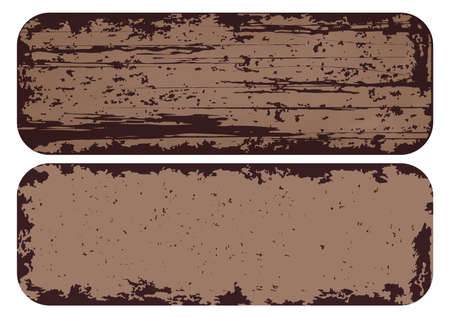 texture rusted metal, background of grunge steel with iron frame. vector illustration
