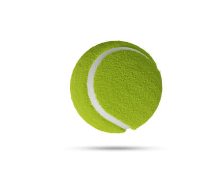 tennis ball isolated on white background Imagens