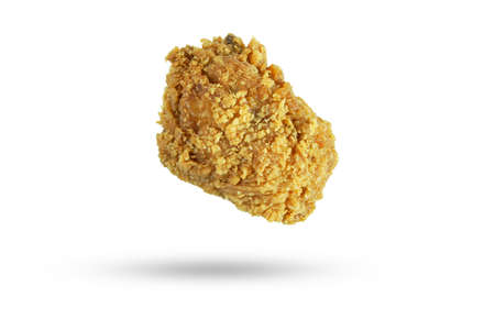 crispy fried chicken isolated on white background
