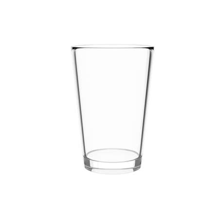 empty water glass isolated on a white background