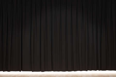 black theater curtain background. 3D rendering