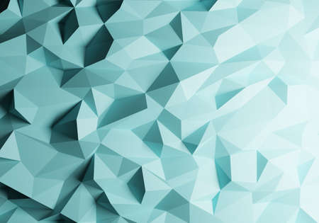 Abstract polygonal space low poly background, 3d render Imagens