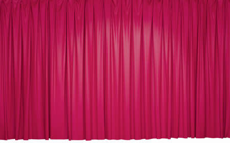 pink theater curtain background. 3D rendering Imagens