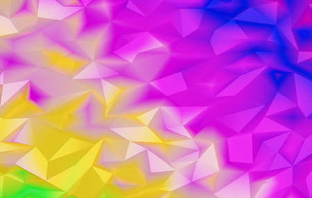 colorful of abstract rainbow polygonal poly background, 3d render Imagens