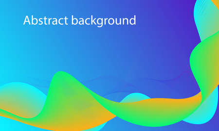 Abstract background, gradient waved lines for  design.vector illustration Imagens