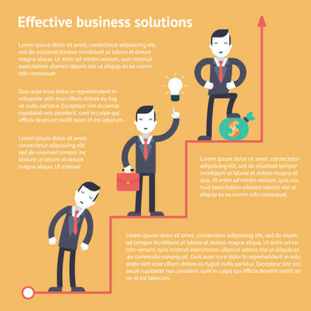 Effective business finance solutions infographic planning %u0441oncept icons set modern trendy flat Vector