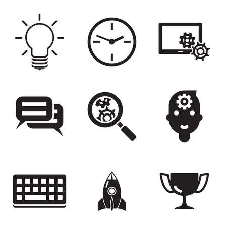 social media marketing: Empresas SEO marketing en medios sociales Vectores