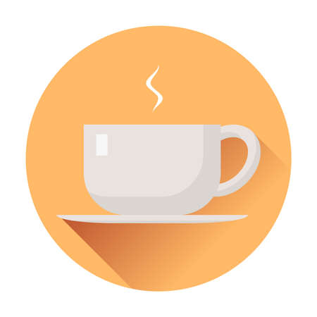 cup of coffee icon ftat Illustration