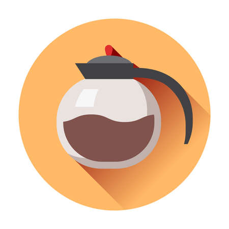coffee pot icon flat isolated