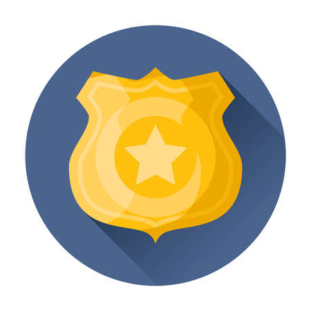 Polizeiabzeichen Symbol Vektor-Illustration Standard-Bild - 33521891