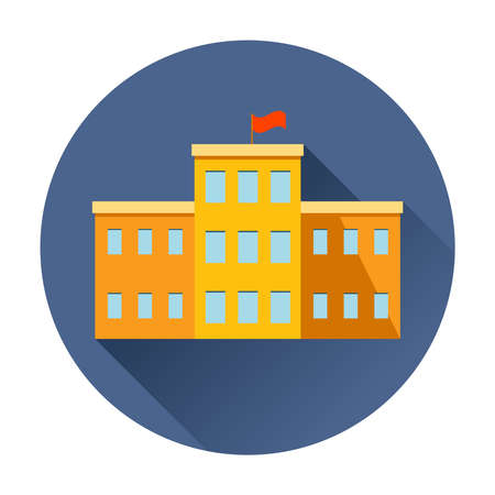 university building: school building icon trendy vector Illustration