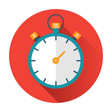 stopwatch icon ftat vector illustration