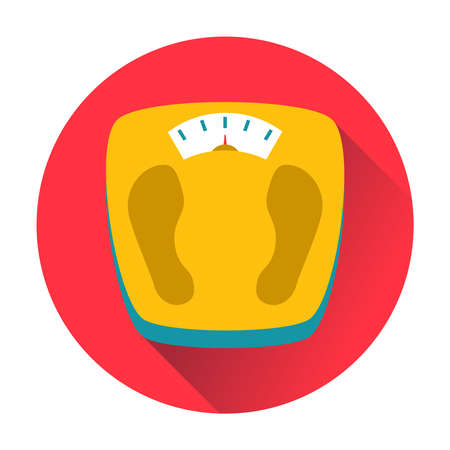 dystrophy: weight scales icon trendy ftat