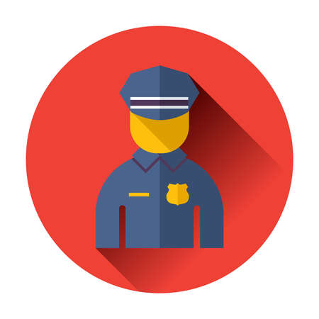 handcuffs female: police officer icon trendy vector flat illustrations