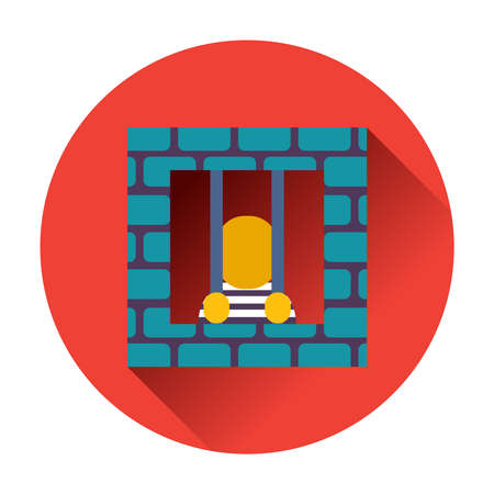 prisoner icon ftat  vector trendy illustrations isolated Vector