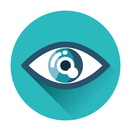 round eyes: eye icon flat isolated vector trendy illustration Illustration