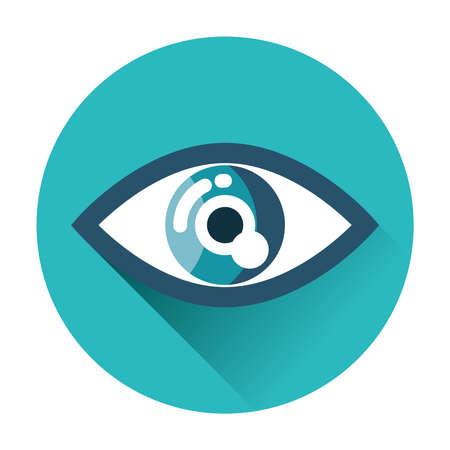 ojos azules: icono del ojo plana aislado trendy vector ilustraci�n