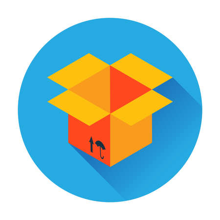 box delivery icon flat isolated vector trendy