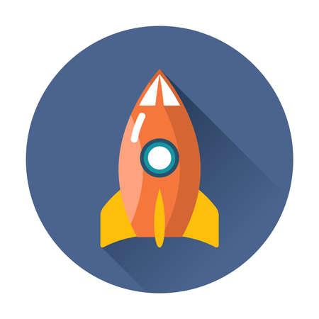 rocketship: rocket icon ftat vector isolated trendy illustration