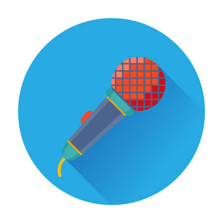 Celebration Karaoke Microphone icon vector flat illustration