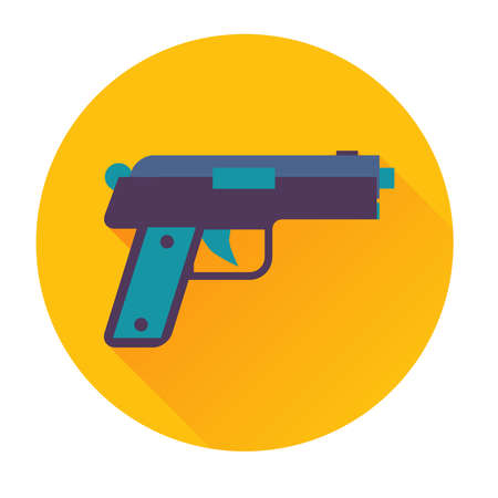 gun shot: gun icon trendy vector flat illustrations isolated