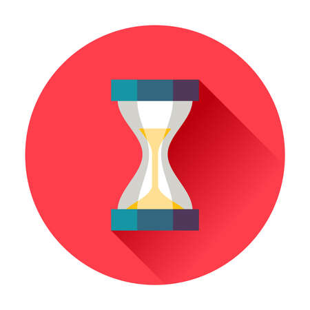 exact: sand timer icon trendy vector flat illustration
