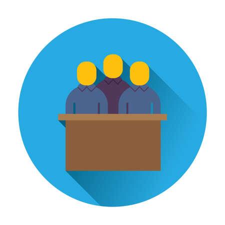 jury trial icon flat trendy vector illustration