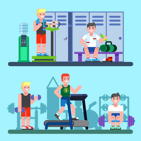 People engaged in the modern gym.