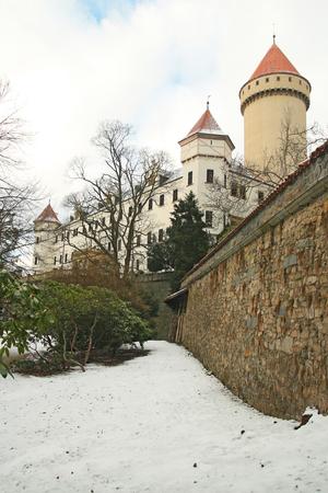 Konopiste state castle in winter, Czech republic