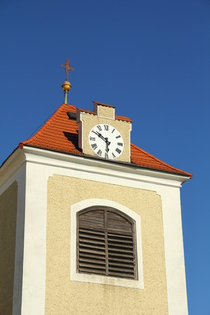 Bell tower with big clock