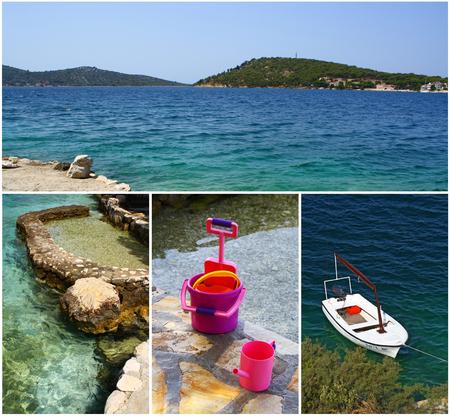 Beautiful bay near Rogoznica town, Dalmatia, Croatia