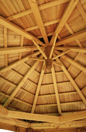 New wooden shake roof, view from iside