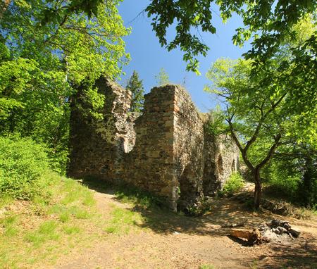A ruin of an old building near Tynec nad Sazavou, Czech republic Stock Photo