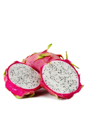 dragon vertical: Dragon fruit on white background with clipping path Stock Photo