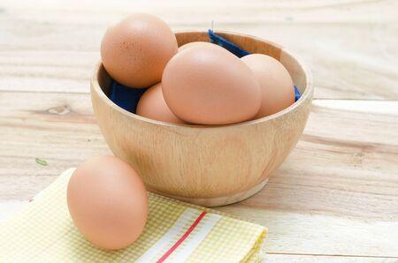 protien: Picture of some eggs in bowl. Eggs is pretty of protien which is usefull for life. Stock Photo