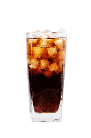 bubble acid: isolated glass of cola with clipping path