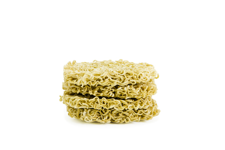 instant noodle on white background