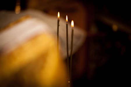 three church candles