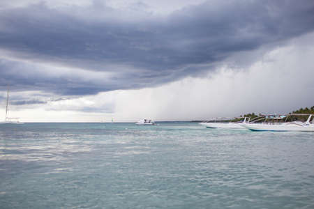rainy cloudy day in the Dominican Republic