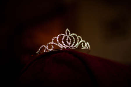 womens tiara lying on the table